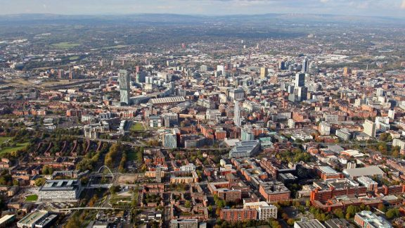 Manchester Skyline - Aerial View