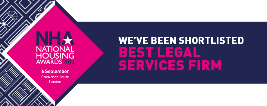 NHA National Housing Awards 2018 - Shortlisted - Best Legal Services Firm